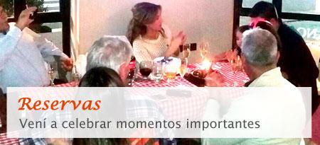 Reservas - Vení a celebrar momentos importantes